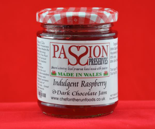 Indulgent Raspberry and Dark Chocolate Jam