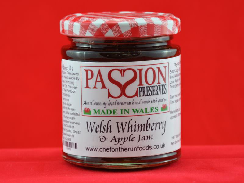 Welsh Whimberry and Apple Jam
